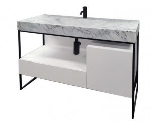 marble top vanity for bathroom renovation