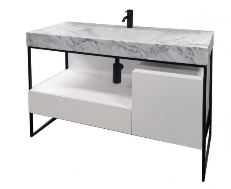 marble top vanity for bathroom renovation