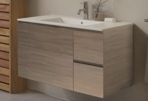 timber wall mount bathroom vanity for new bathroom renovation