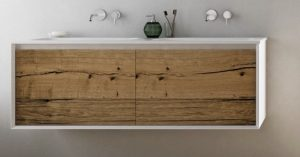 wall mounted wooden bathroom vanity for your new bathroom renovation