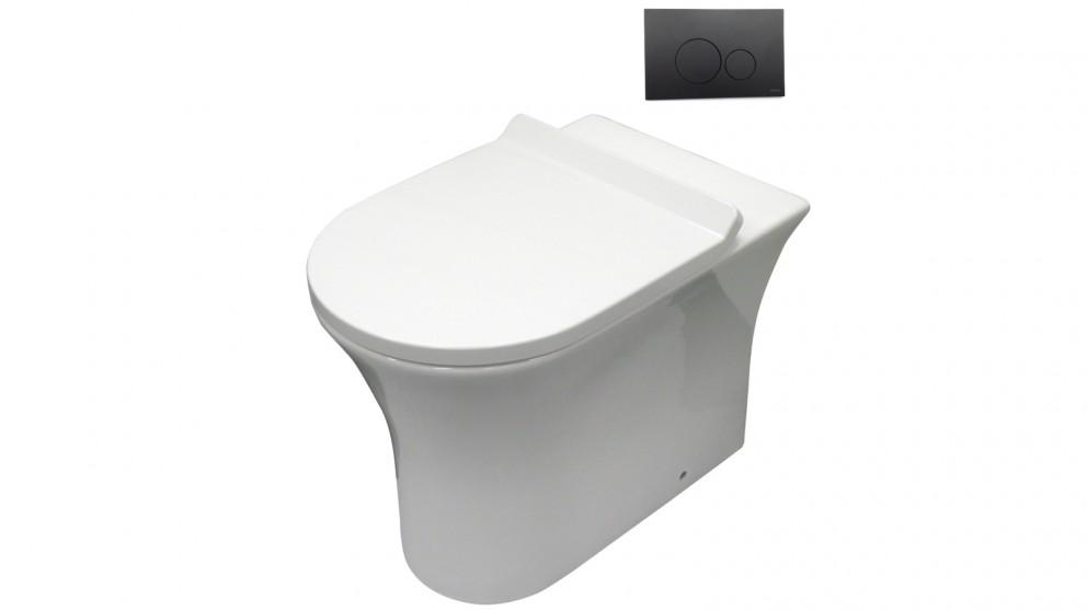 parisi toilet white and black button